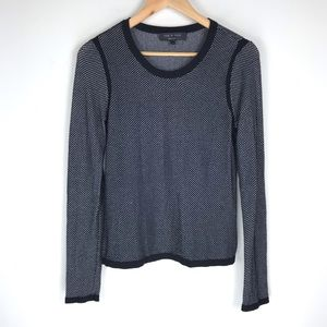 Rag & Bone Mesh Knit Sweater Top Sz. M